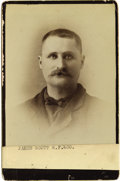 Photography:Cabinet Photos, Cabinet Card of Wells Fargo Agent, circa 1890s. ...