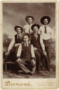 Photography:Cabinet Photos, Five Dudes from Colorado Cabinet Card, 1894-1900. ...