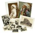 Western Expansion:Indian Artifacts, Lot of Twelve Native American Photographs ca 1880-1900s.... (Total:12 Items)