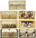 Western Expansion:Indian Artifacts, Lot of Seven Stereoviews of Native Americans 1880s-1890s. ... (Total: 7 Items)