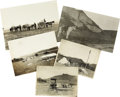 Western Expansion:Cowboy, Lot of Five Photographs Cowboy's racing to Buffalo Bone Pickers ca1880s - ... (Total: 5 Items)