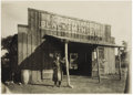 Photography:Cabinet Photos, Large Cabinet Card Photograph of Blacksmith Shop ca early 1900s -...
