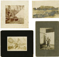 Photography:Cabinet Photos, Four Miscellaneous Indian Photographs. ... (Total: 4 Items)