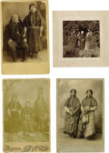 Photography:Cabinet Photos, Four Photographs of Pacific Northwest Indians. ... (Total: 4 Items)