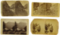 Photography:Stereo Cards, Four Early Colorado Stereoview Cards. ... (Total: 4 Items)