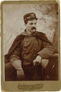 Photography:Cabinet Photos, Cavalry Officer Cabinet Card. ...