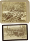 Photography:Cabinet Photos, Lot of Two Logging Photographs ca 1890s - ... (Total: 2 Items)