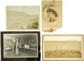 Western Expansion:Cowboy, Lot of Four Damaged Wild West Photographs ca 1880s-1890s - ...(Total: 4 Items)