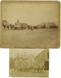 Photography:Cabinet Photos, Horse-Drawn Wagons, circa 1890s. ... (Total: 2 Items)