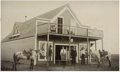 Western Expansion:Cowboy, Large Cabinet Card Photograph of Mercantile Store ca 1890s-1900s -...