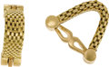 Estate Jewelry:Cufflinks, Gold Cuff Links, French. Each 18k yellow gold mesh link features a hinged cuff mechanism. Marked Made in France. Gross wei... (Total: 2 )