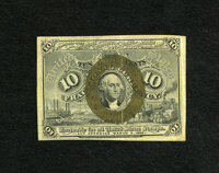 Fr. 1244 10c Second Issue Very Fine-Extremely Fine. A totally original and moderately circulated example of this second...