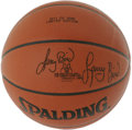 Basketball Collectibles:Balls, Larry Bird Single Signed Basketball. The Hick from French Lick, Indiana lit the league ablaze when he arrived in the NBA, m...