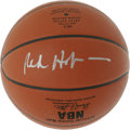 Basketball Collectibles:Balls, Red Holzman Single Signed Basketball. Amazing 10/10 silver sharpie signature appears on the offered Spalding official game ...