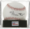 "Autographs:Baseballs, Willie Mays ""HOF 92"" Single Signed Baseball, PSA Mint+ 9.5.Exquisite single from Willie Mays guaranteed to make you say ""H..."