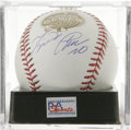 Autographs:Baseballs, Miguel Cabrera Single Signed Baseball, PSA Mint 9. The FloridaMarlins slugger has applied a stellar side panel signature t...
