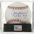 "Autographs:Baseballs, Andre Dawson ""77 N.L. ROY"" Single Signed Baseball, PSA Mint+ 9.5.The Cubs superstar makes note of his 1977 Rookie of the Ye..."