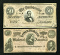 Confederate Notes:Group Lots, Two Confederate Notes . ... (Total: 2 notes)