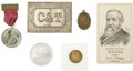 Political:Miscellaneous Political, 1880-90s Presidential: Excellent Group Lot of Six Items.... (Total: 6 Items)