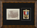 Political:Ribbons & Badges, William McKinley: Campaign Badge and Photo Display...