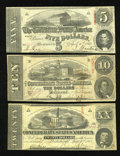 Confederate Notes:Group Lots, Three Confederate 1863 Notes.. ... (Total: 3 notes)