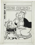 Original Comic Art:Covers, Joe Musial - King Comics #128 Wimpy Cover Original Art (DavidMcKay, 1946).... (Total: 2 Items)