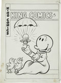 Original Comic Art:Covers, Joe Musial - King Comics #108 Swee'pea Cover Original Art (DavidMcKay, 1945)....