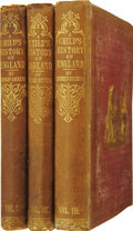 Books:First Editions, Charles Dickens. A Child's History of England. With aFrontispiece by F. W. Topham. Volume I. England from the A...