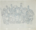 """animation art:Production Drawing, """"The Hobbit"""" Special Presentation Drawing Original Art (1977)...."""