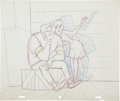 animation art:Production Drawing, Sabrina the Teenage Witch Layout Drawing Original Art (Filmation,1971)....