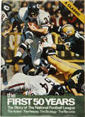 """Football Collectibles:Others, Outstanding Multi-Signed """"The First 50 Years"""" Book, Including Several Hall of Famers. Published in 1969 to celebrate the up..."""