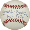 "Autographs:Baseballs, Mickey Mantle ""HOF 1974"" Single Signed Baseball. As far ad MickeyMantle singles go, those with unique inscriptions will ob..."