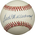 Autographs:Baseballs, Ted Williams Single Signed Baseball. When the Splendid Ted Williamsstepped into the batter's box he brought with him the s...