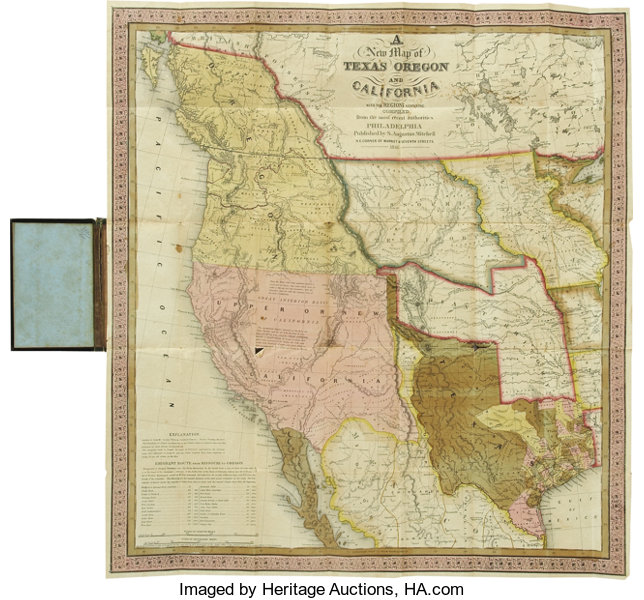New Map Of Texas.S Amuel Augustus Mitchell Accompaniment To Mitchell S New Map Of