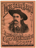 Western Expansion:Cowboy, Lone Star Harry, Scout, Wild West Performer Pamphlet 1893 - ...
