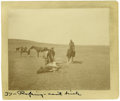 """Western Expansion:Cowboy, Cabinet Card by L. A. Huffman """"The Spring Round-up"""" ca 1880s-90s-..."""