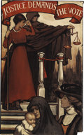 Political:Posters & Broadsides (1896-present), Spectacular English Suffrage Art Poster....