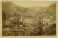 Western Expansion:Goldrush, Cabinet Card Photograph Birds Eye Junction City, Colorado 1880s....