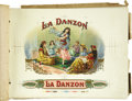 Antique Stone Lithography:Cigar Label Art, La Danzon Inner Label Progressive Proof Book....