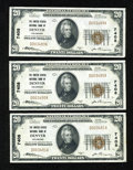 National Bank Notes:Colorado, Denver, CO - $20 1929 Ty. 1 The United States NB Ch. # 7408. ThreeExamples.. ... (Total: 3 notes)