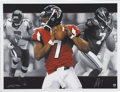 Football Collectibles:Others, Michael Vick Signed Lithographs Lot of 5. From the exceptional art of renowned illustrator Adam Port we present a group of ...