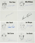 Autographs:Index Cards, Baseball Stars Signed Index Cards Lot of 8. Many stars, including several Hall of Famers, have contributed to this lot of s...