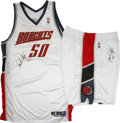 Basketball Collectibles:Uniforms, 2005 Emeka Okafor Game Worn and Signed Full Uniform. A highlytouted talent out of the University of Connecticut, Emeka Oka...