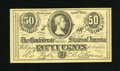 Confederate Notes:1863 Issues, Facsimile T63 50 Cents 1863 Ad Note circa 1900.. ...