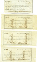 Miscellaneous:Ephemera, Lot of Four Texas Appropriation Bonds for the Texian Navy Dated1841.... (Total: 4 Items)