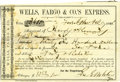 Western Expansion:Cowboy, 1860 Wells, Fargo & Company Express Receipt for Money....