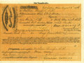 Western Expansion:Cowboy, 1876 Dakota Territory Army Transport Voucher....