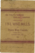 Western Expansion:Cowboy, 1888 Phelps and Bigelow Wind Mill Company Catalog....