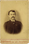 Photography:Cabinet Photos, HANDSOME CABINET CARD BUST OF ALBERT STINSON, DEPUTY SHERIFF OFJACK COUNTY, TX....