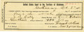 Western Expansion:Cowboy, 1894 Oklahoma Territory Printed Certification Document....